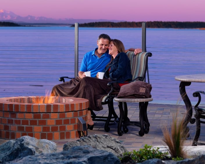 Ocean Front fire pit oak bay