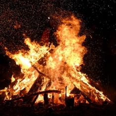 Bonfire at Fireman's Park, Oak Bay